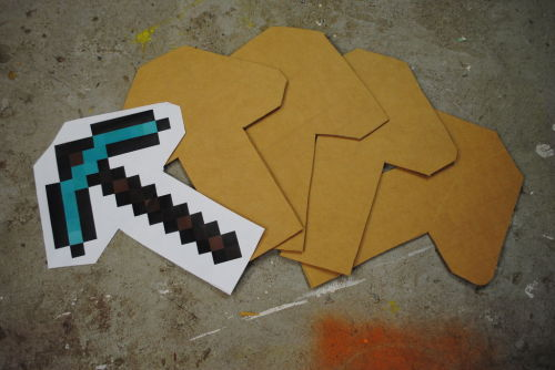 Cardboarder Challenge: Build a Minecraft Pickaxe!